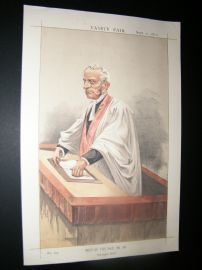 Vanity Fair Print 1872 Very Rev. A. P. Stanley